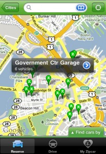 Zipcar iPhone app